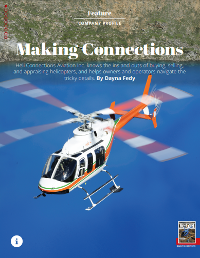 Magazine article cover image heli connections